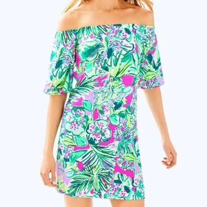 NWT Lilly Pulitzer Off-the-Shoulder Fawcett Dress